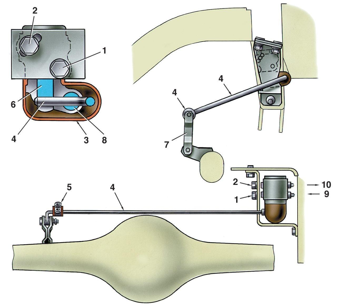 Схема стояночного тормоза ваз 2106