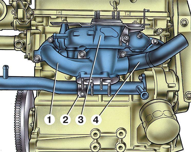 8 клапанный двигатель подача воды в впускную систему разработано исходя