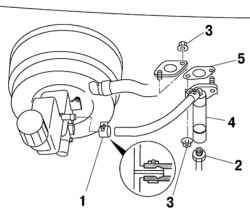 Компоненты главного цилиндра привода выключения сцепления