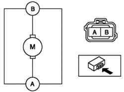 Схема проверки электродвигателя омывателя ветрового стекла