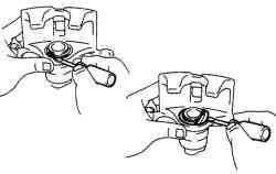 Снятие чехла тормозного цилиндра