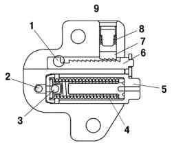 Натяжитель цепи привода механизма газораспределения