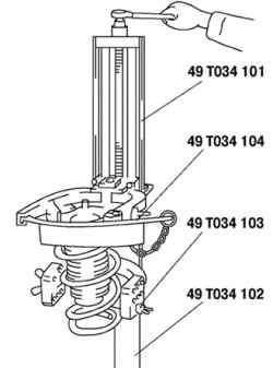 Сжатие цилиндрической пружины
