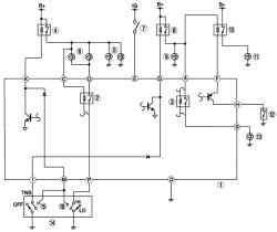 Схема системы управления освещением при движении автомобиля