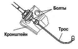 Кронштейн крепления троса акселератора