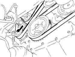 Ослабление натяжения приводного ремня