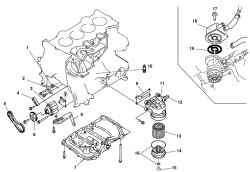 Рабочие компоненты системы смазки автомобиля Mazda 3