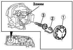 Порядок снятия компонентов фары