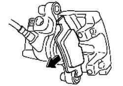 Снятие тормозной колодки