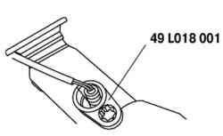 Снятие датчика концентрации кислорода с подогревом с использованием специального инструмента