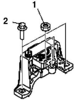 Порядок затягивания болтов крепления опоры двигателя