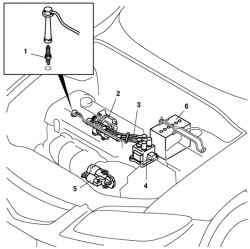 Рабочие компоненты электрооборудования двигателя автомобиля Mazda 3
