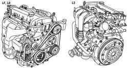 Общий вид двигателей автомобиля Mazda 3