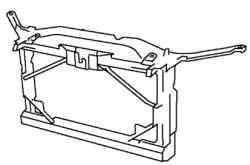 Панель рамы радиатора