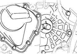 Установка специального приспособления для удерживания полуосевой шестерни