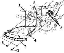 Снятие передней комбинированной фары