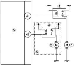 Электросхема системы управления автомобиля Mazda 3 с двигателем L8, LF (общая область)