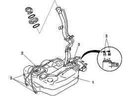 Топливный бак автомобиля c двигателем Z6