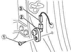 Порядок снятия компонентов концевого выключателя двери