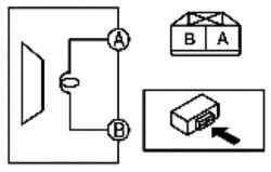 Схема проверки переднего динамика верхних звуковых частот