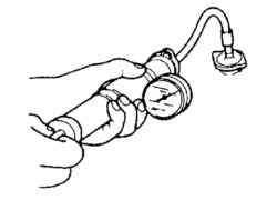 Подключение компрессометра