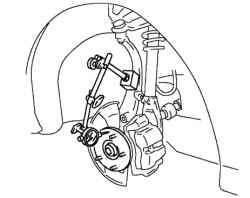 Проверка зазора в подшипнике ступицы переднего колеса