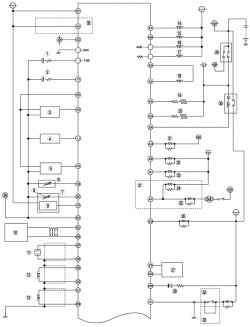 а. Монтажная схема системы управления топливной системой автомобиля Mazda 3 с иммобилайзером (часть 1)