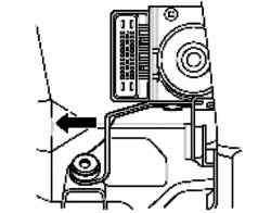 Снятие узла гидравлического блока антиблокировочной системы тормозов