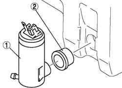 Снятие электродвигателя омывателя заднего стекла
