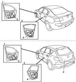 Двери автомобилей Mazda 3