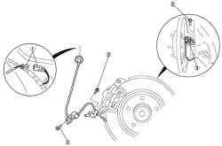 Задний датчик скорости колеса ABS