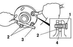 Затягивание гаек крепления ступицы колеса