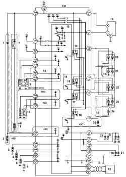 Монтажная схема системы дистанционного управления замками дверей