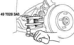 Снятие шарового шарнира наконечника рулевого тяги
