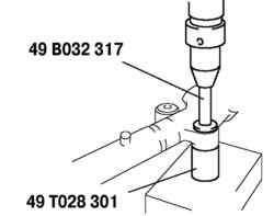 Выпрессовка резиновой опоры из корпуса рулевого механизма