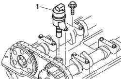 Снятие управляющего масляного клапана (OCV)