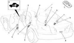 Система управления замками дверей автомобиля Mazda (с кузовом «седан»)