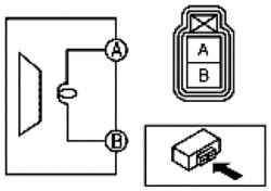 Схема проверки динамика переденей двери