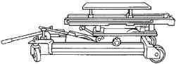 Моторный домкрат для закрепления двигателя перед снятием опоры №3