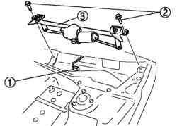 Снятие электродвигателя стеклоочистителя ветрового стекла