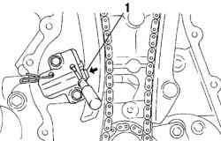 Установка специального приспособления на коленчатый вал