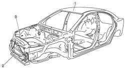 Каркас кузова автомобиля Mazda 3