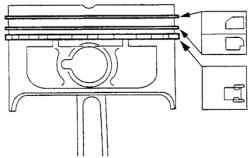Схема установки маслосъемного кольца