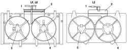 Вентиилятор, обтекатель и расширительный бачок в сборе