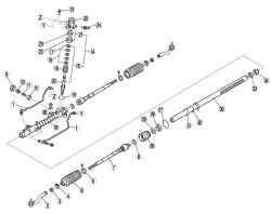 Компоненты рулевого механизма и рулевых тяг