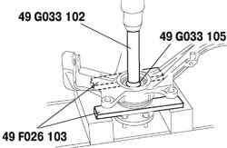 Снятие ступицы колеса с вала привода
