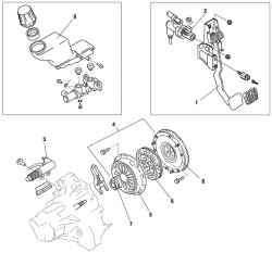 Компоненты рабочего контура сцепления автомобиля Mazda 6