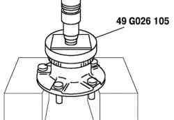 Запрессовка ротора датчика ABS
