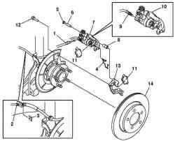 Компоненты заднего тормозного механизма