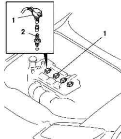 Система зажигания автомобиля с двигателем Z6